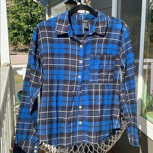 Cute blue flannel. Perfect for fall!